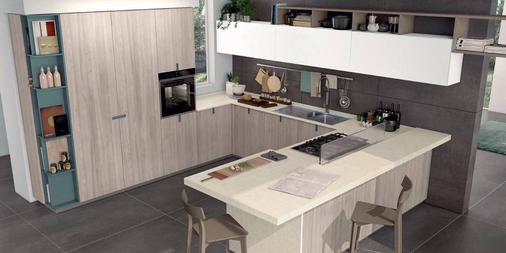 Cucine Moderne Piccoli Spazi. Fabulous Cucina Compatta E Funzionale ...