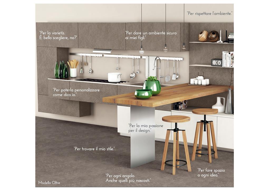 Oltre, l\'espressione della materia - Cucine Lube