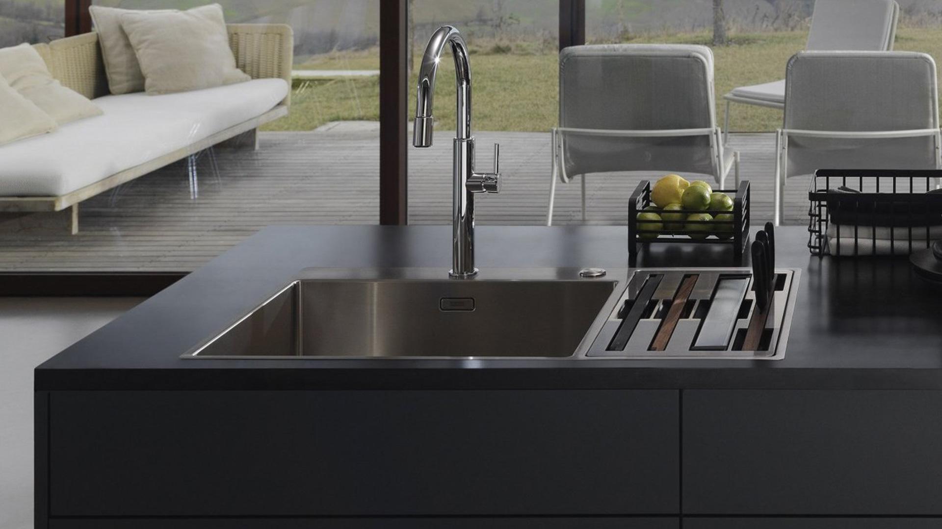 Lavello Cucina Una Vasca Grande box center franke, per un'area lavello configurabile e