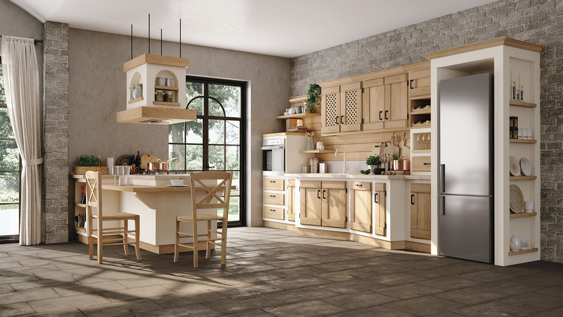 Telaio Per Ante Cucina Muratura.Anita Cucine Borgo Antico Cucine Lube