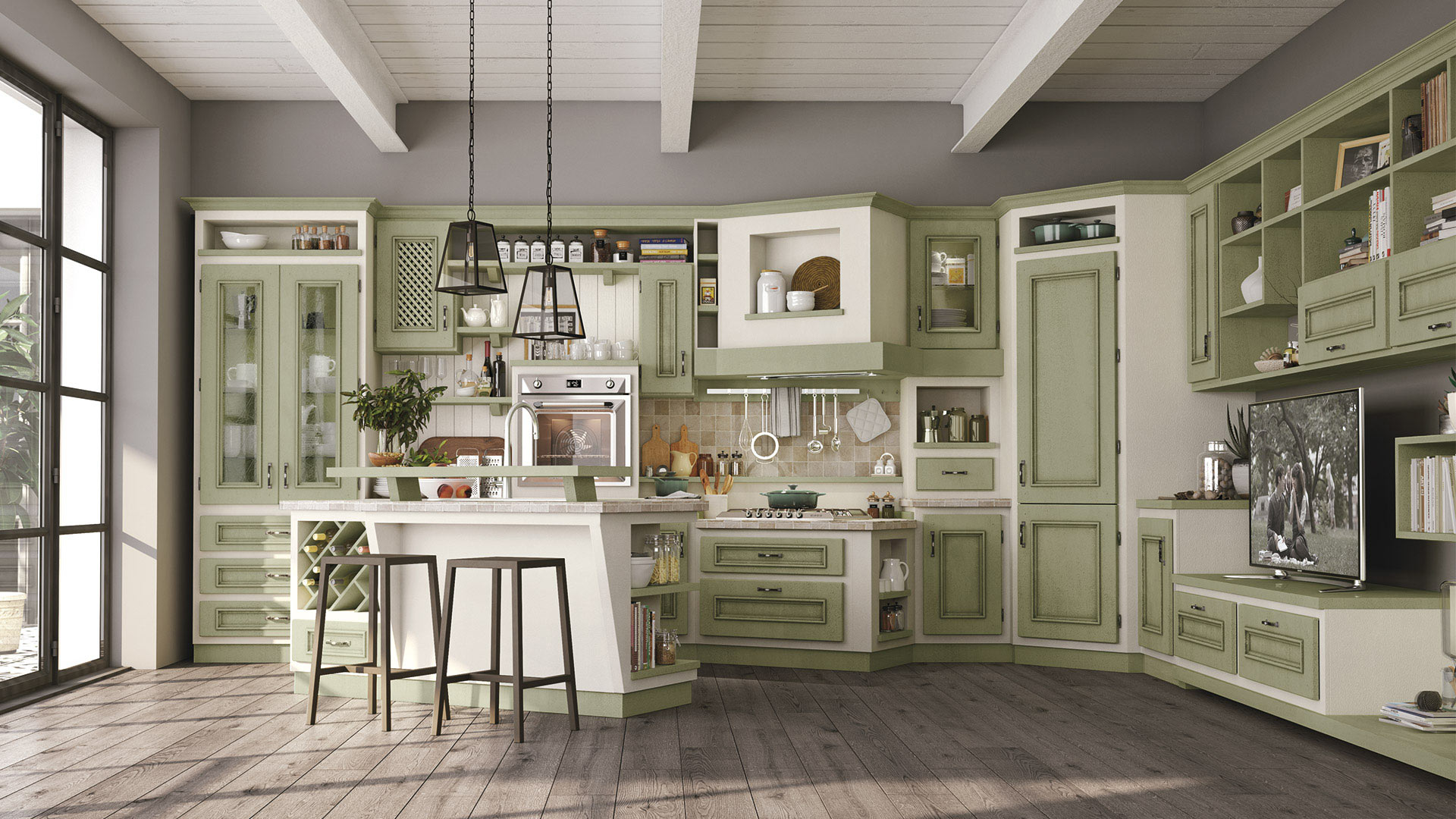 Beatrice cucine borgo antico cucine lube for Cucina middle mondo convenienza