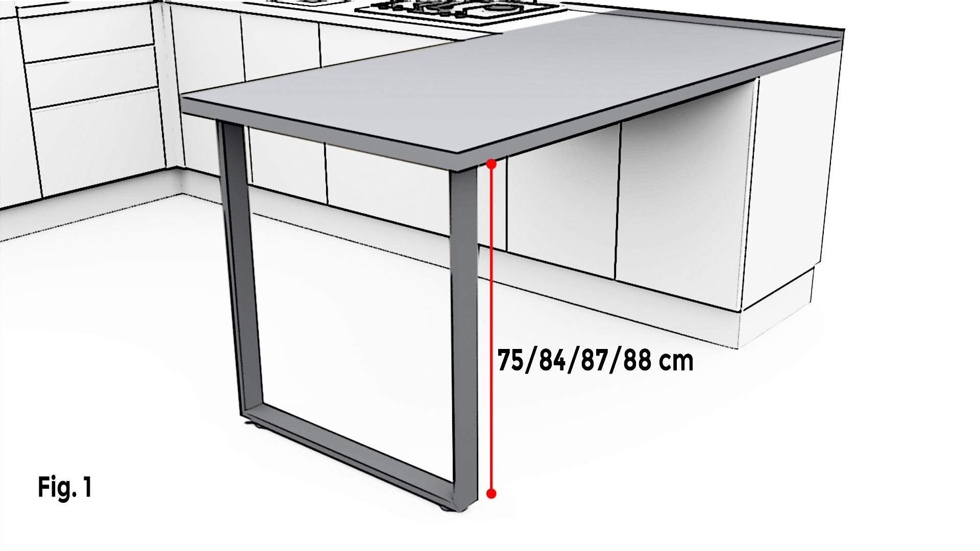 Misure Standard Top Cucina ergonomia e componibilità - cucine lube