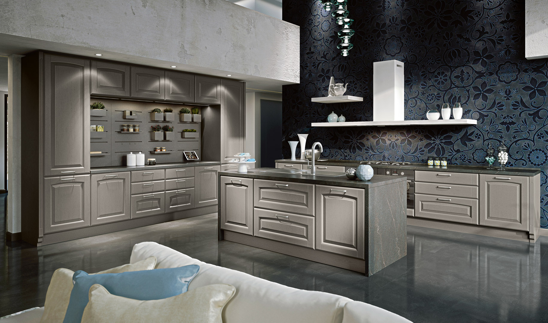 Veronica - Veronica, blends formal authenticity and style with expert craftsmanship and technology. The models proposed oer the ideal solutions for every moment of your daily life. Quality and extreme care for both stylistic and construction details guarantee a timeless object. - Cucine LUBE