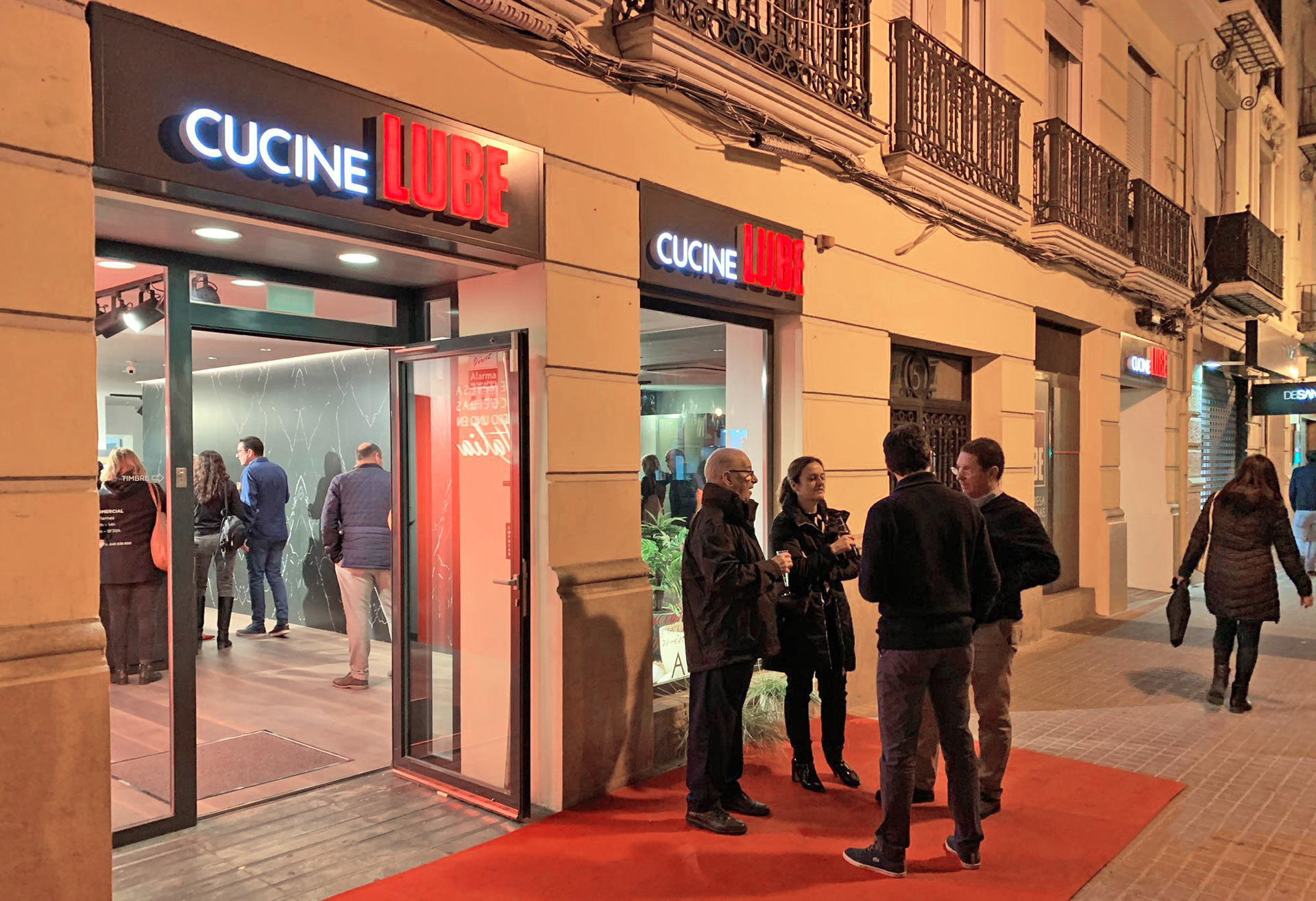 Spain, inaugurated a wonderful LUBE Store in Valencia - Cucine LUBE