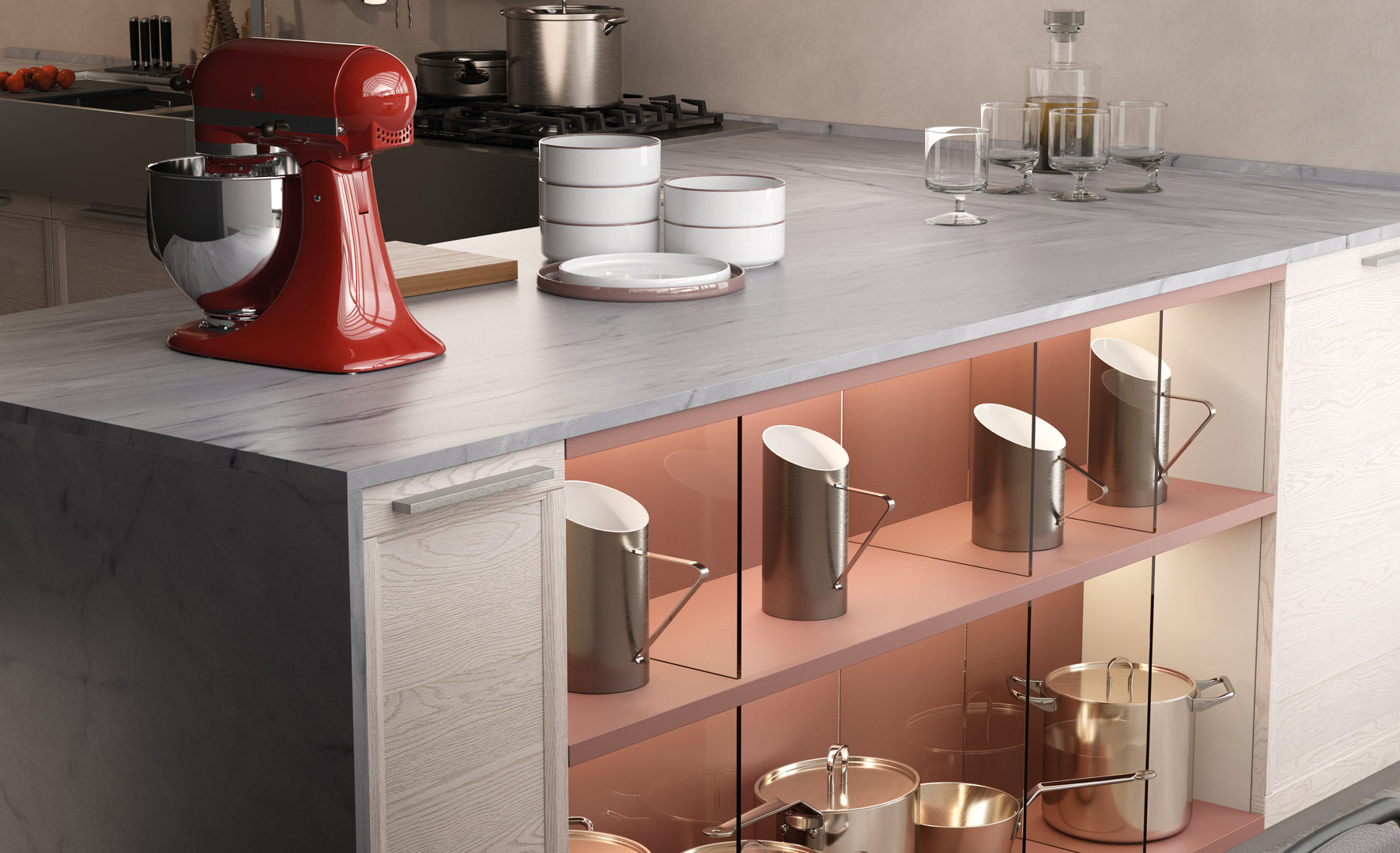 Koros®, the new line of technological and ultra-resistant work surfaces by Gruppo LUBE - Cucine LUBE