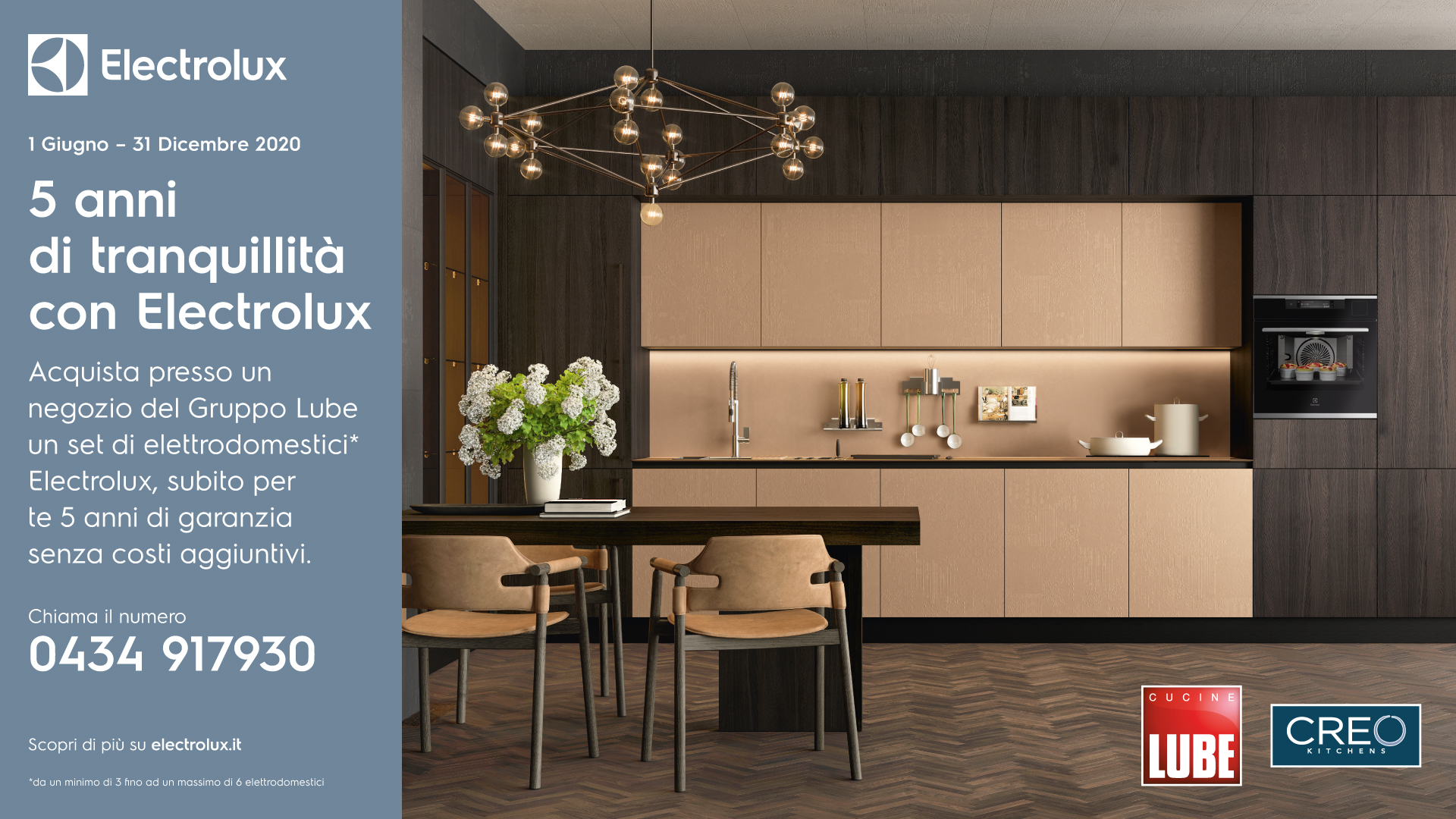 5 years' peace of mind with Electrolux - Cucine LUBE