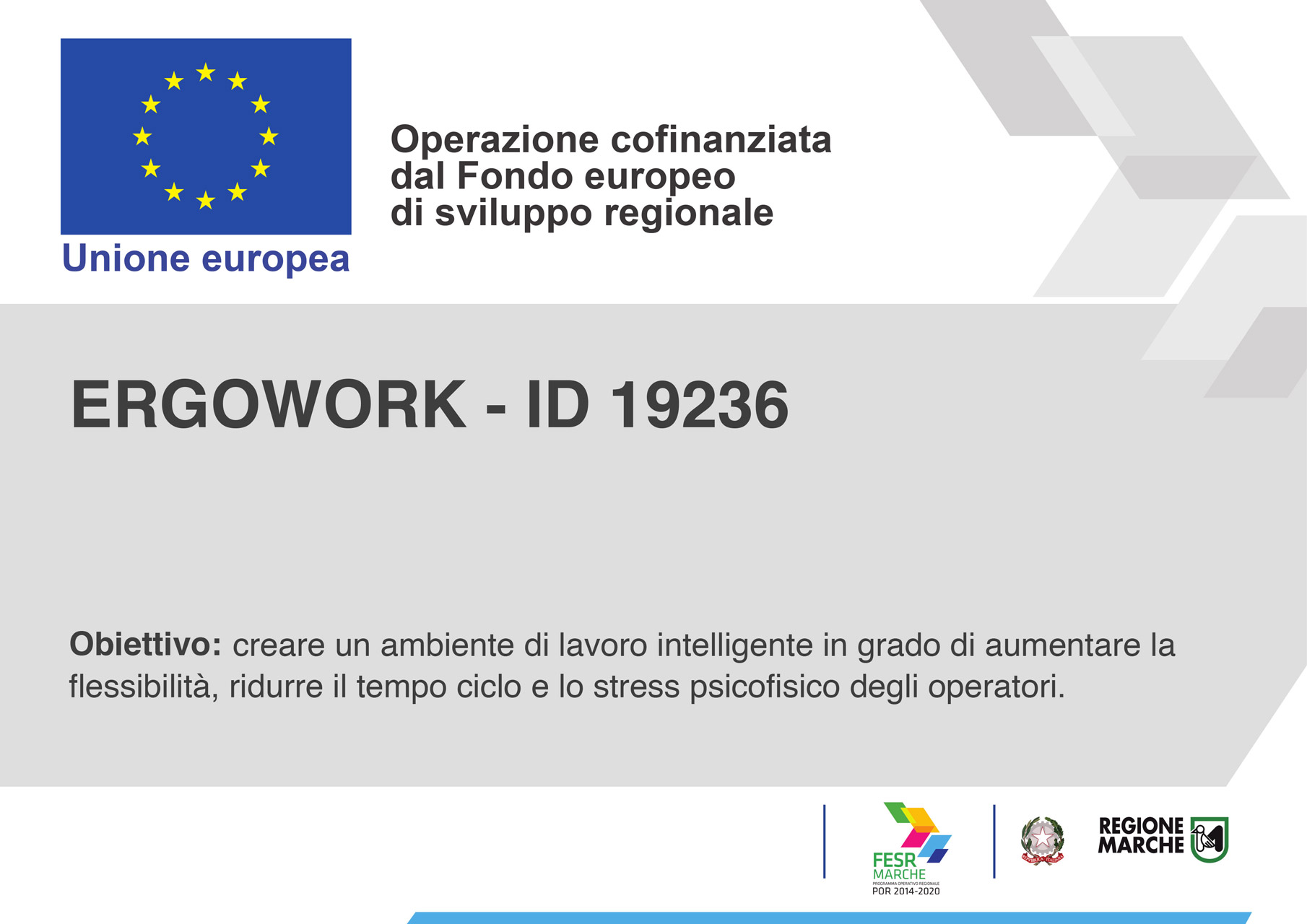 <b>ErgoWork Ergonomic and effective Workplaces</b> through reconfigurable and collaborative smart systems - Cucine LUBE