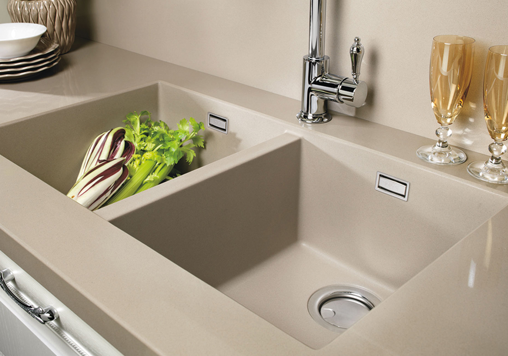 Sink integrated with the Composite worktop - Cucine LUBE