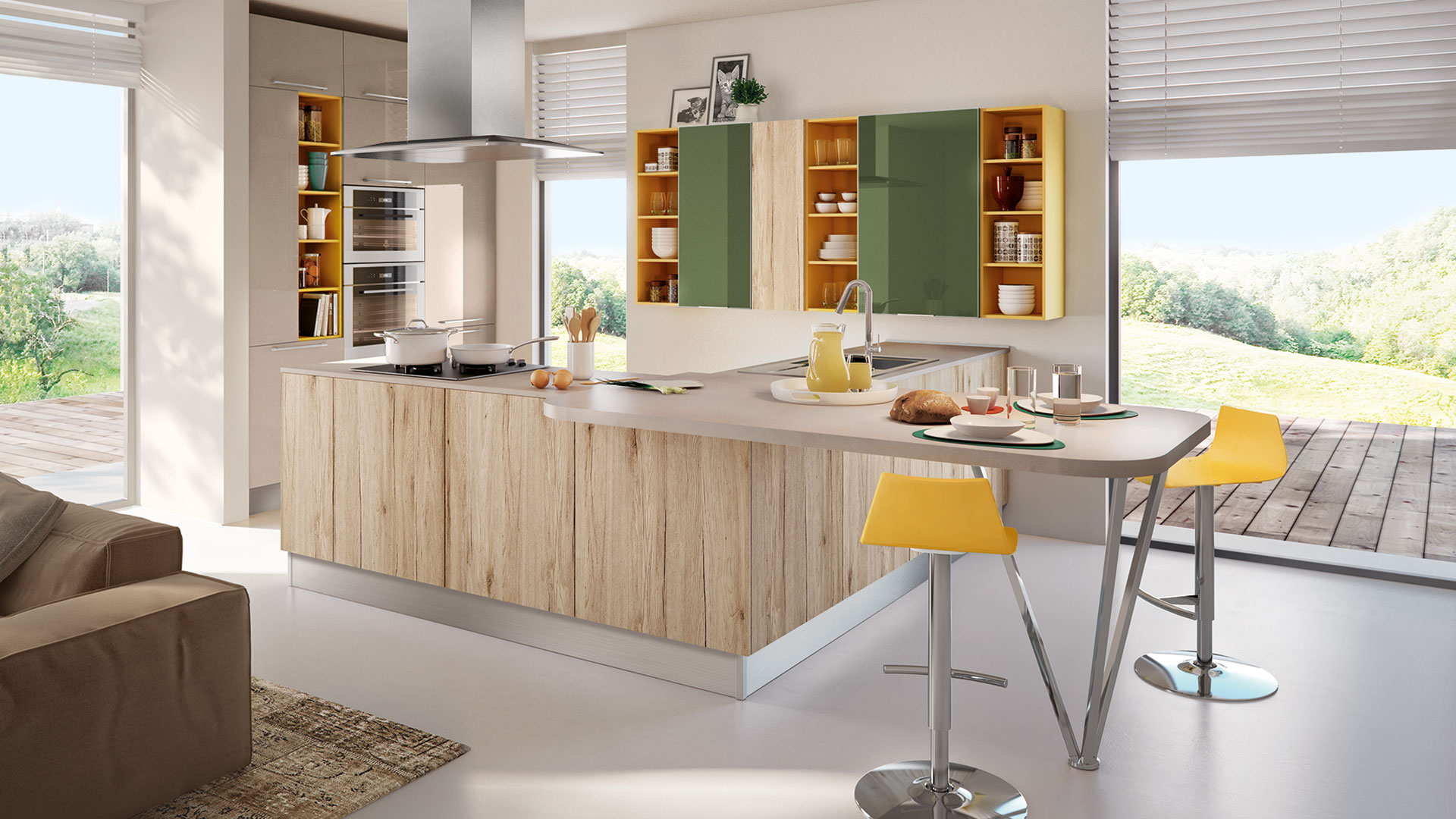 Swing - Cucine Moderne - Cucine LUBE