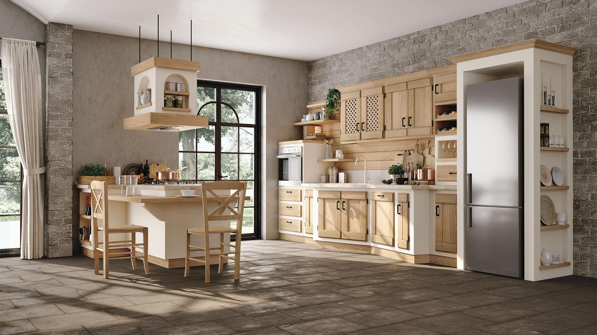 Cucina In Finta Muratura Bianca.Anita Cucine Borgo Antico Cucine Lube