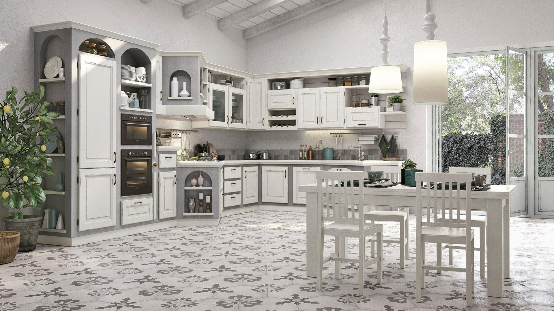 Onelia - Cucine Borgo Antico - Cucine LUBE
