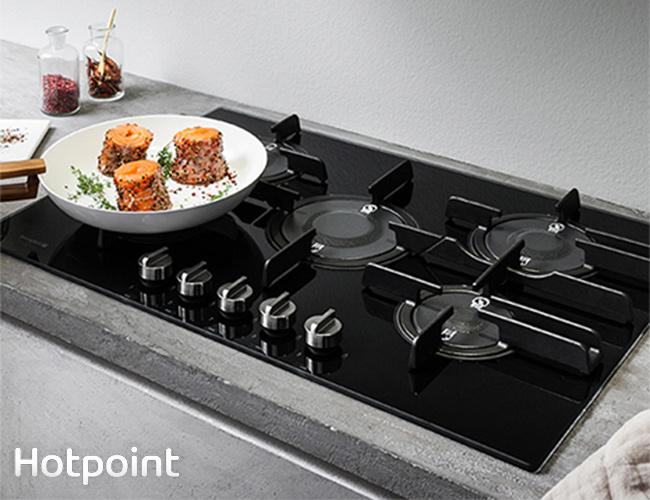 Hotpoint: Nuovi piani cottura a gas per prestazioni eccellenti ...