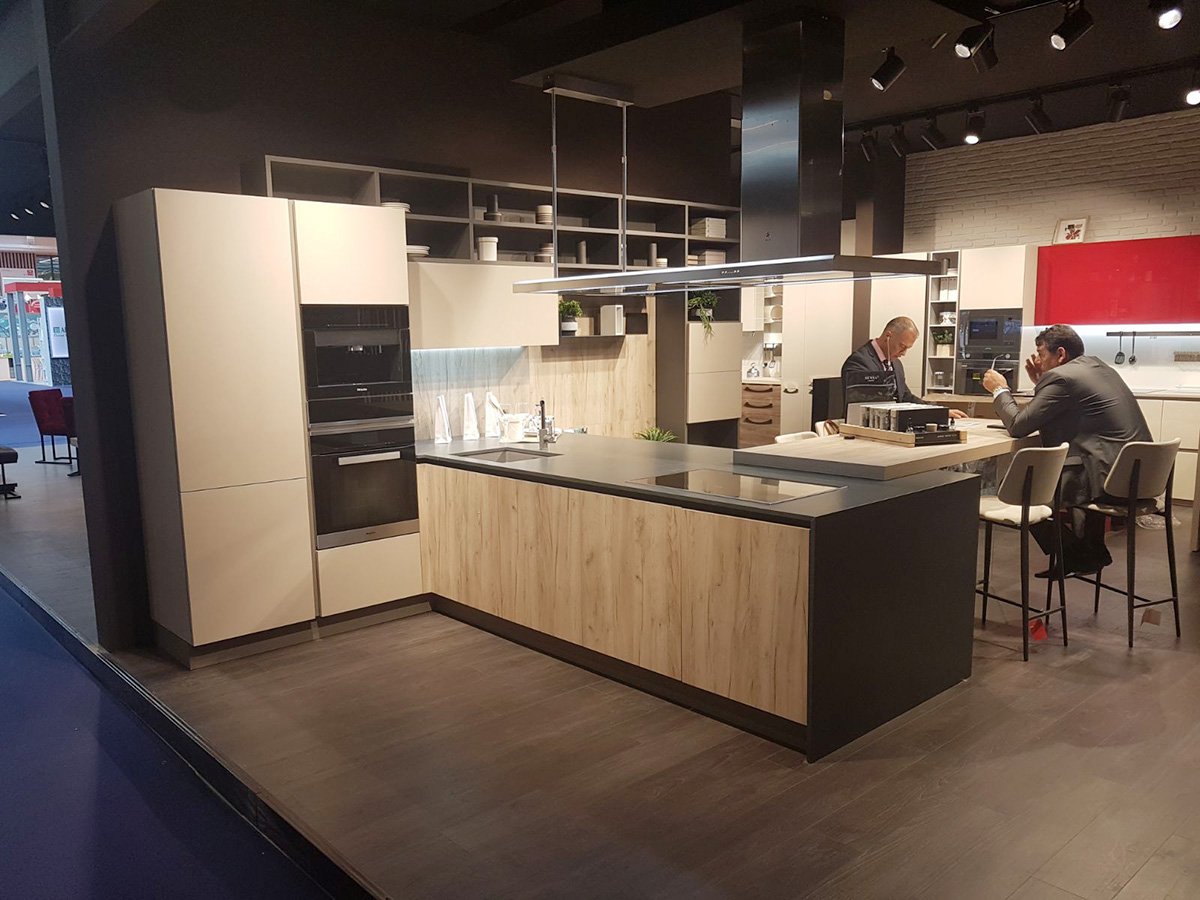 The design and quality of Cucine Lube on display at the Paris fair ...