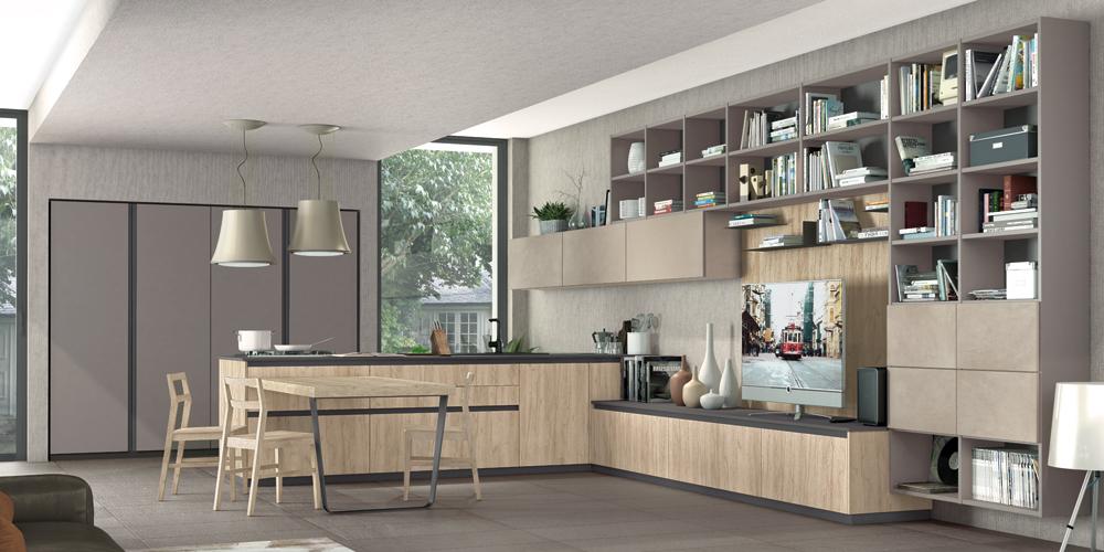 Il fascino e la praticità dell\'open space - Cucine Lube