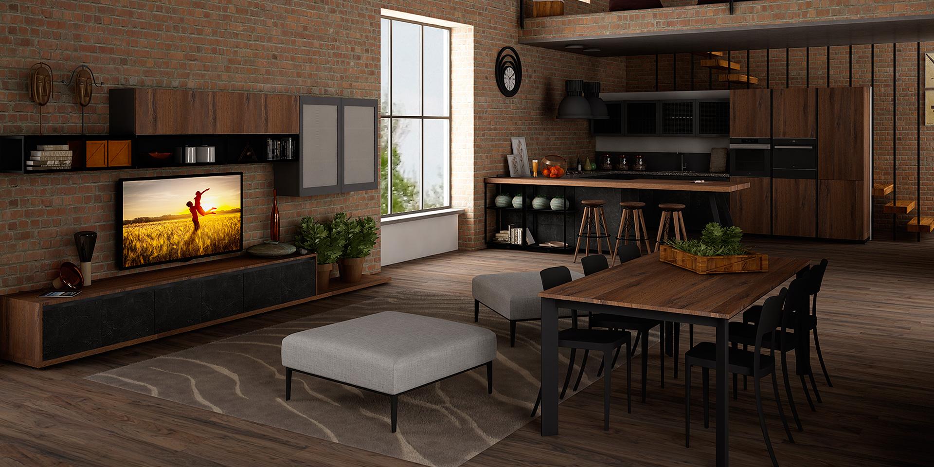 Eleganza in stile industriale - Cucine Lube
