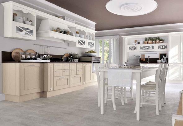 Agnese: cornice di un ambiente romantico e intramontabile - Cucine Lube