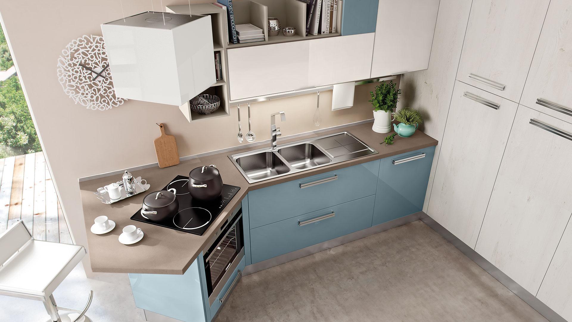 Cucine in poco spazio - Cucine Lube