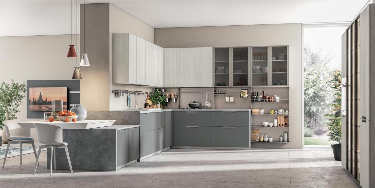 Compositions - Cuisines d'angle - Cucine LUBE