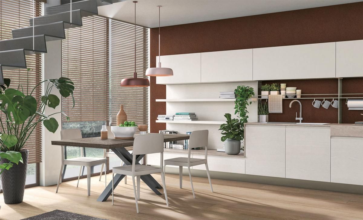 Living area - Integrated living space - Cucine LUBE