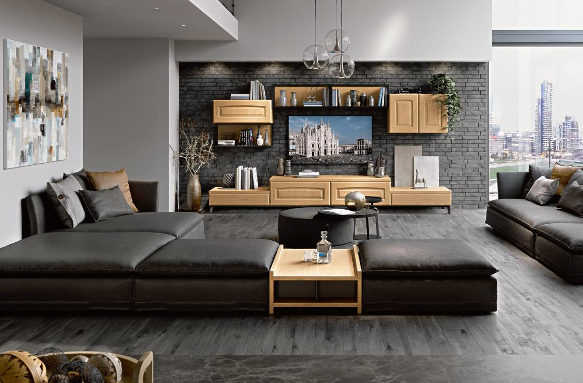 Living area - Classic style - Cucine LUBE