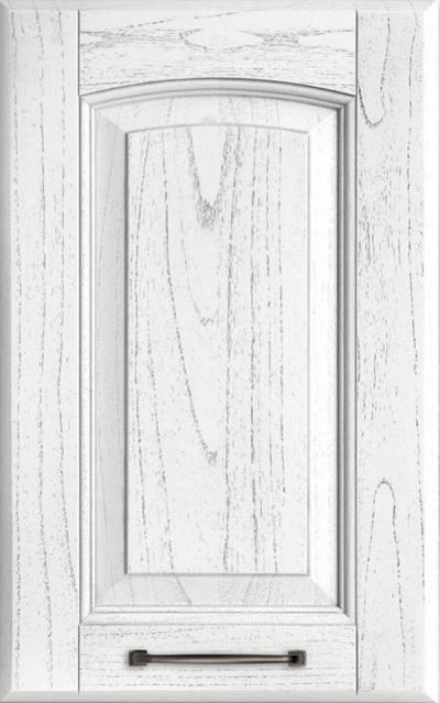 Veronica Solid ash wood - Absolute white lacquer pickled grey