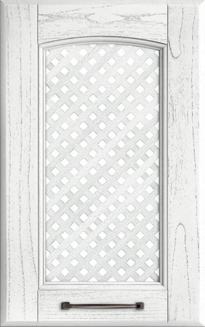 Veronica Solid ash wood / Grating - Absolute white lacquer pickled grey