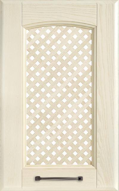 Veronica Solid ash wood / Grating - Pickled white