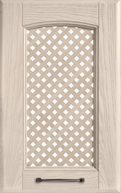 Veronica Solid ash wood / Grating - Pickled clay grey ash