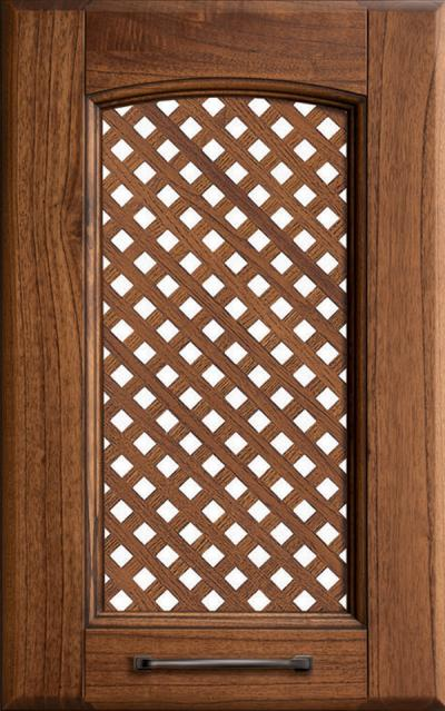 Veronica Solid ash wood / Grating - Walnut-stained