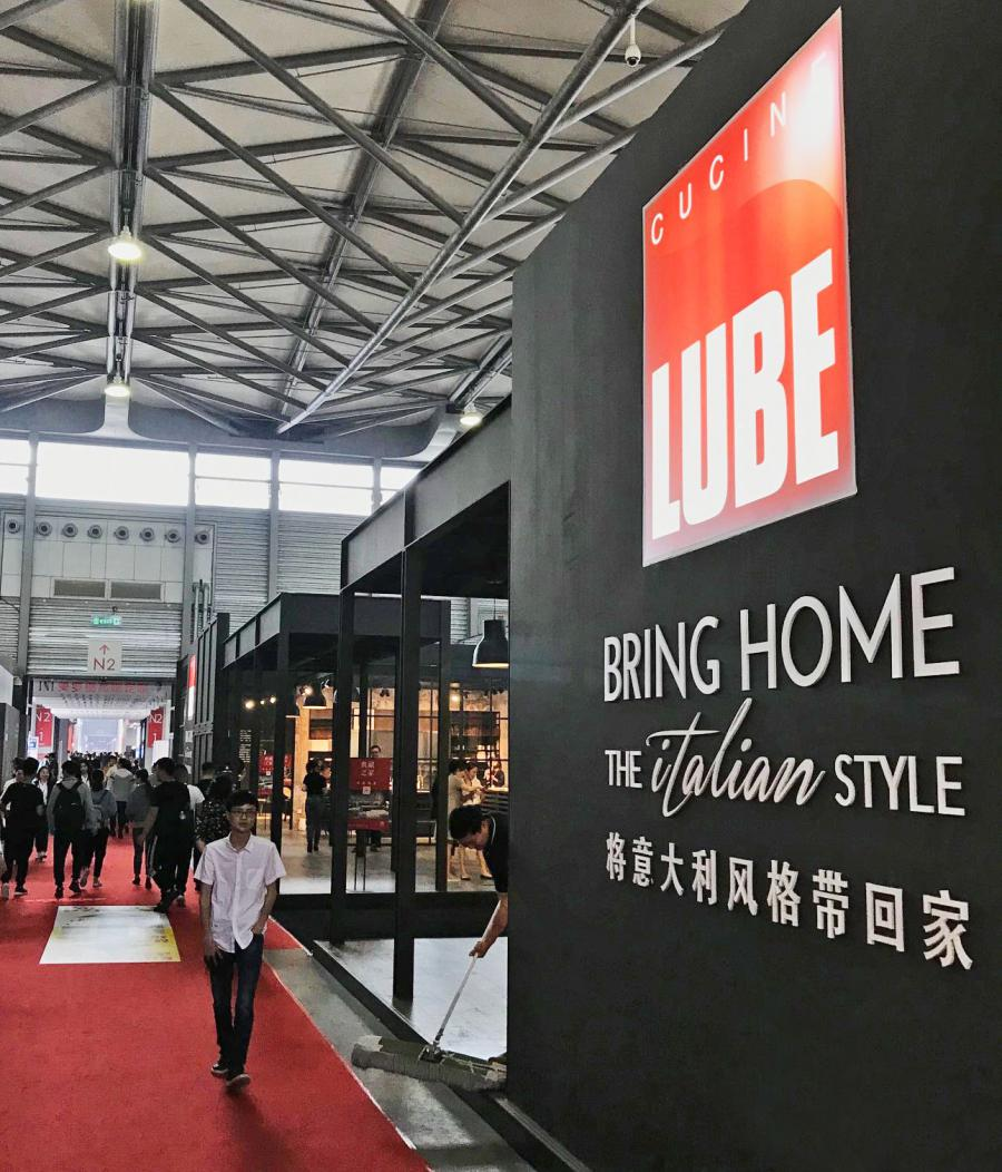 The quality and know-how of Cucine LUBE will be on stage at Shanghai's Kitchen & Bath fair