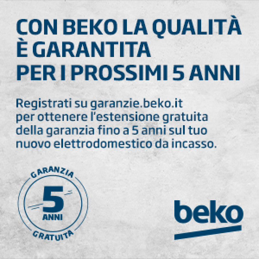 With Beko, quality is guaranteed for five years