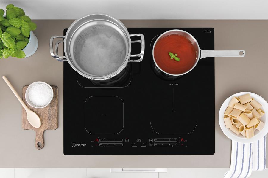 Indesit Push&Go induction hobs: efficient, practical and reliable