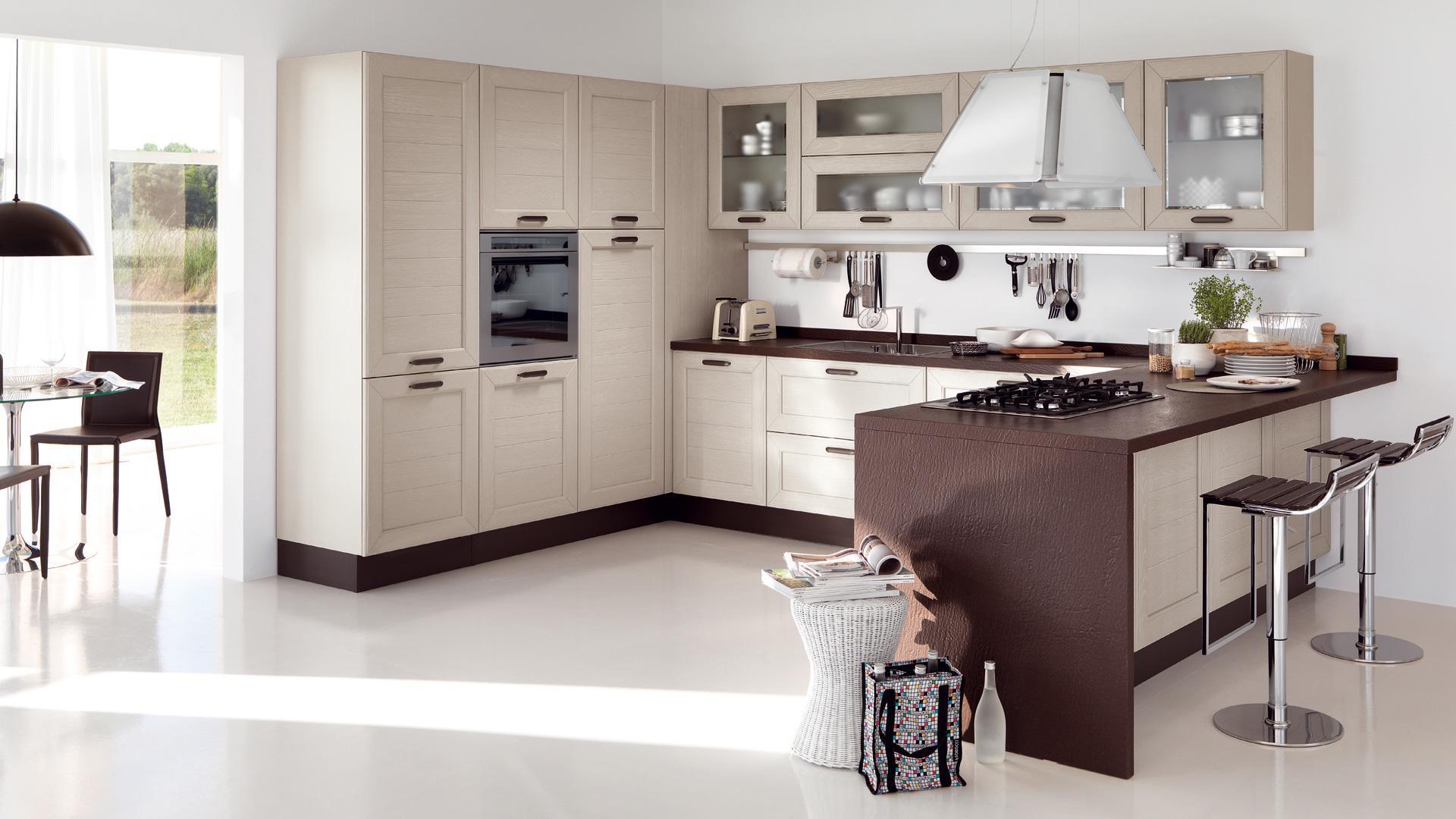 La commistione fra classico e moderno in cucina - Cucine Lube