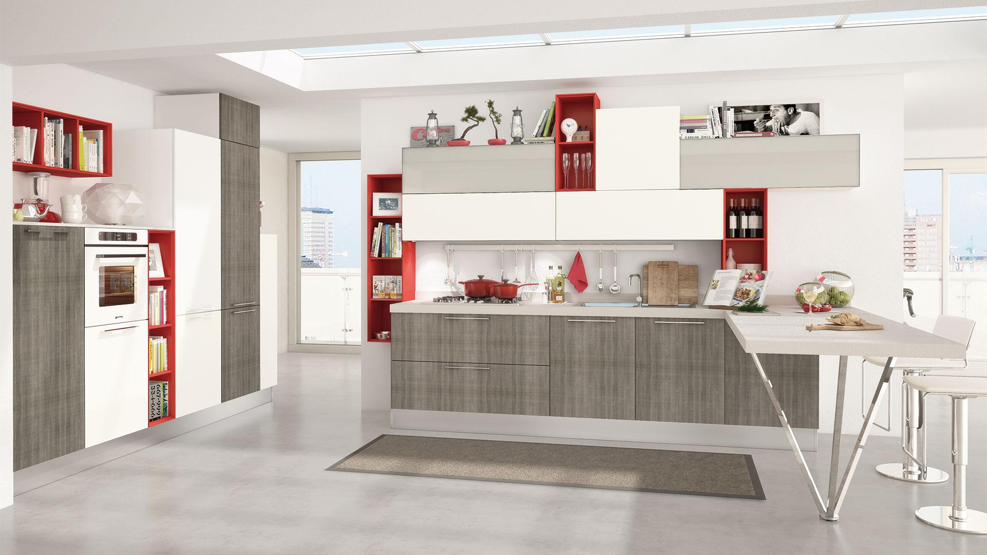 Bianche sfumature in cucina - Cucine Lube