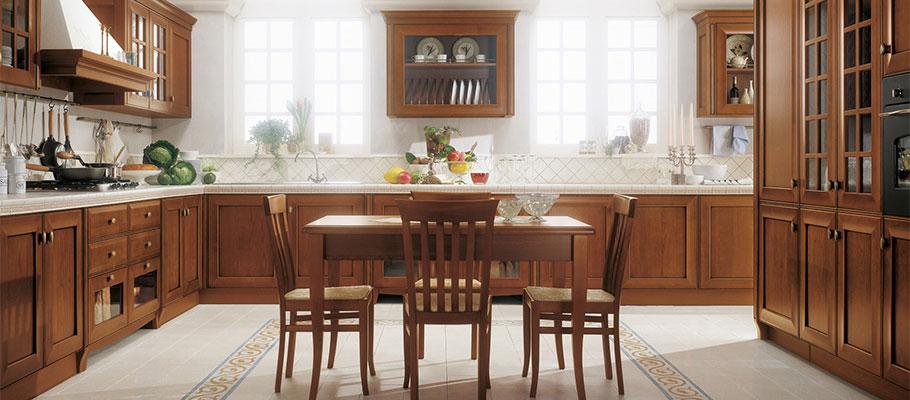 Velia ciliegio - Cucine Classiche - Scheda prodotto - Cucine Lube