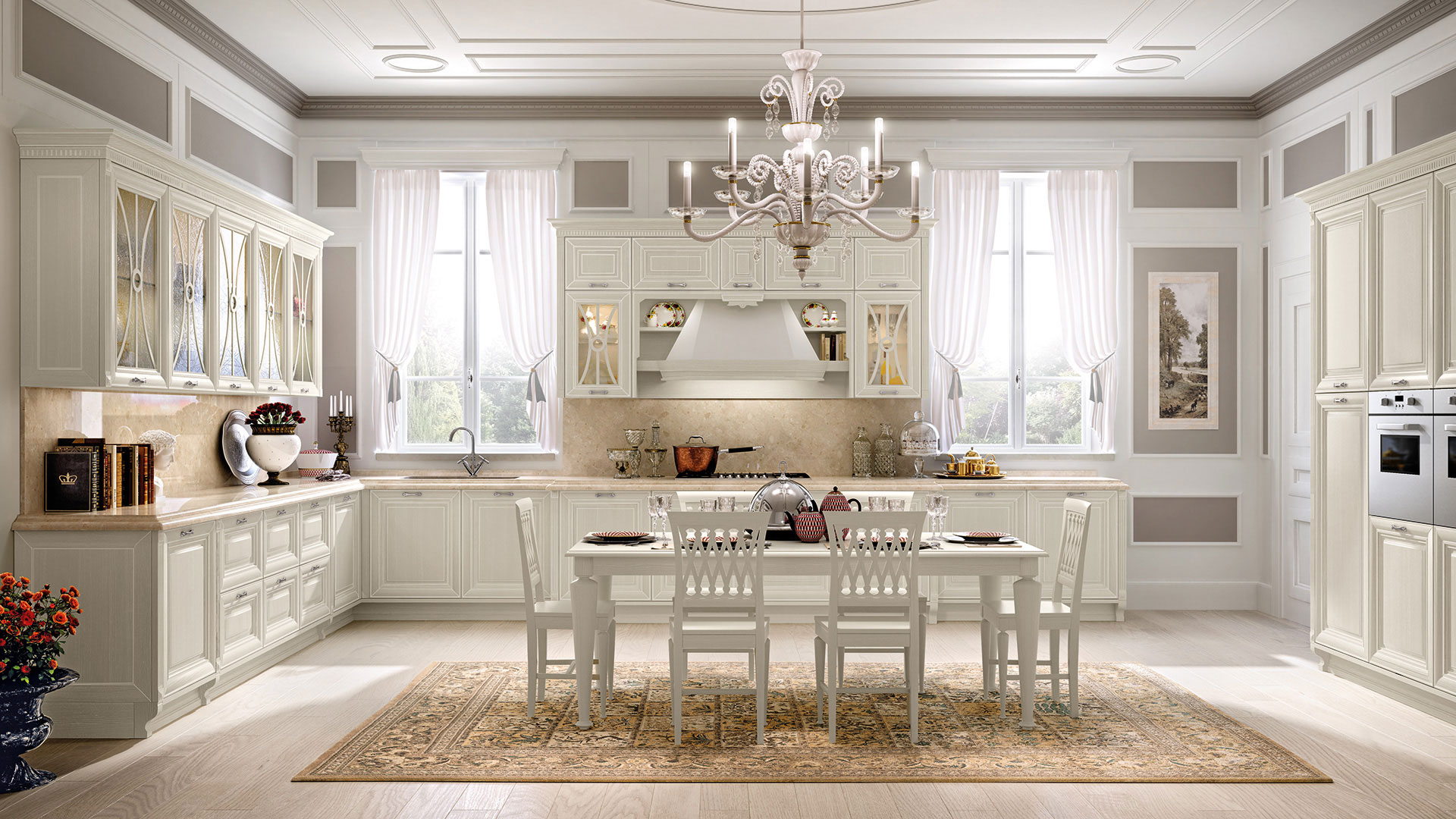 Pantheon - Cucine Classiche - Scheda prodotto - Cucine Lube